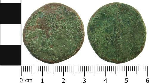 LANCUM-1F2038: Roman coin: Sestertius of Antoninus Pius