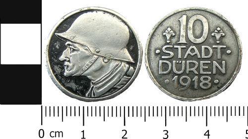 LANCUM-314B71: Modern coin: German Notgeld 10 Pfennig