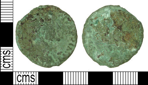 LANCUM-17FEA3: Extremely worn early Roman as or dupondius