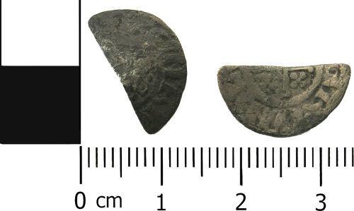 LANCUM-3259A4: Medieval coin: Cut short cross halfpenny of Henry III