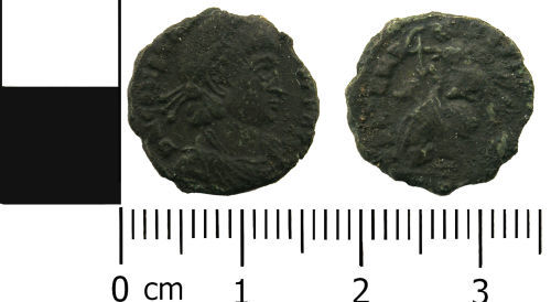 LANCUM-327EE2: Late Roman nummus of Constantius II