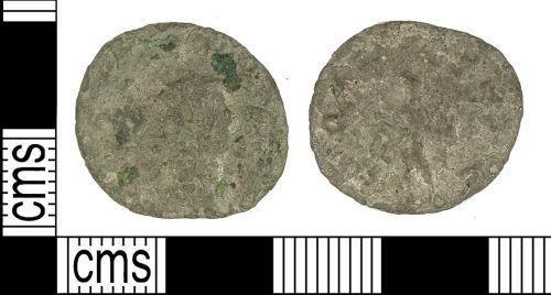 LANCUM-6D2DD2: LANCUM-6D2DD2: Late Roman radiate of Gallienus