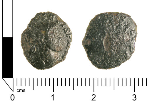 A resized image of Roman coin: Radiate of Allectus