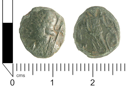 LANCUM-094248: Roman coin: Nummus of the House of Contstantine