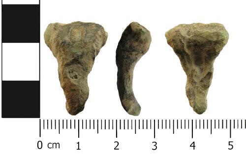 LANCUM-217E11: Very worn Roman brooch fragment