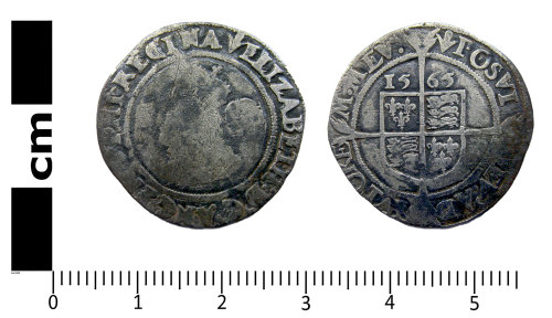 A resized image of Post-medieval coin: Sixpence of Elizabeth I