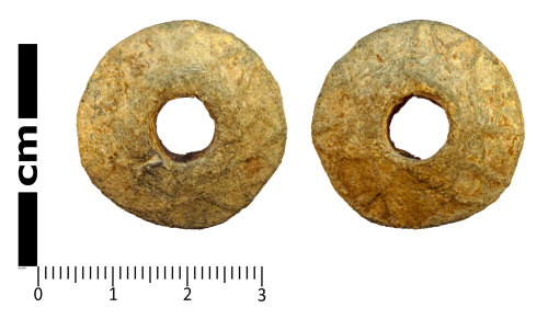LANCUM-2C663F: Weight, probably a spindle whorl