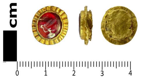 LANCUM-3C3804: Gold setting with gemstone intaglio 2016T1075
