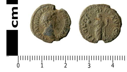 LANCUM-45054B: Roman coin: Denarius of Marcus Aurelius)