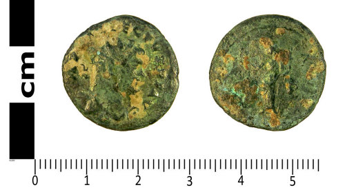 LANCUM-55180E: Roman coin: Radiate of Allectus