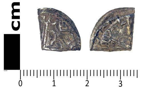 LANCUM-6AE69C: Early medieval coin: folded penny of Canute
