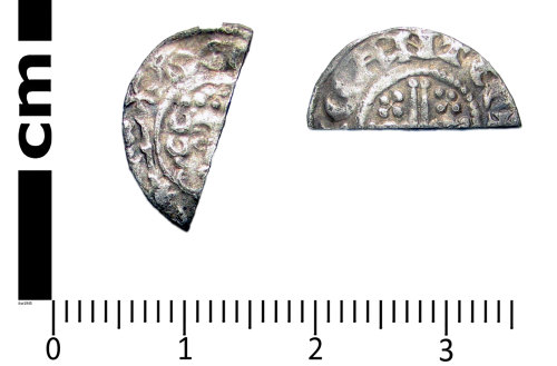 A resized image of Medieval coin: Short cross cut halfpenny of Henry III