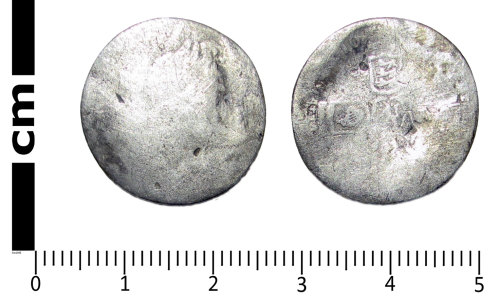 LANCUM-85CF53: Post-medieval coin: sixpence of William III