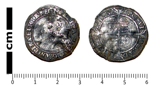 LANCUM-85FC79: Post-medieval coin: Sixpence of Elizabeth I