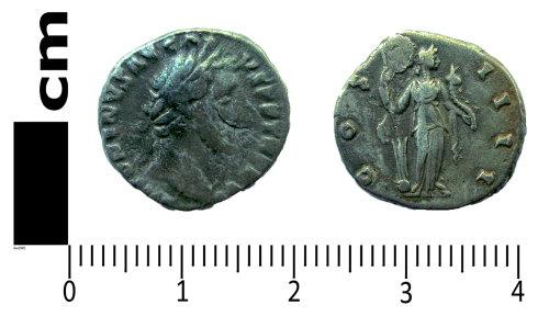 LANCUM-895A3C: Roman coin: Denarius of Antoninus Pius