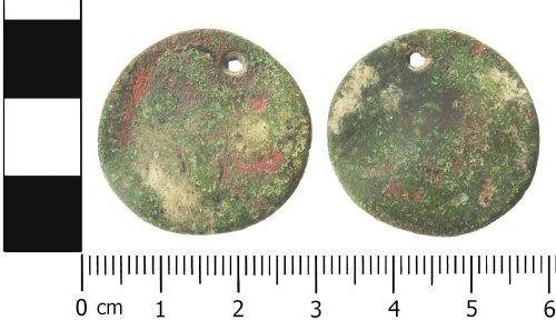 LANCUM-8E5B18: Roman coin: Probably an extremely worn dupondius.