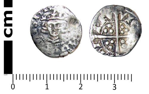 LANCUM-9B4D71: Medieval coin: Halfpenny of Edward I