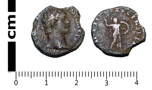 A resized image of Roman coin: Denarius of Domitianc