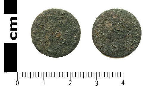 A resized image of Post-medieval coin: Irish halfpenny of George II