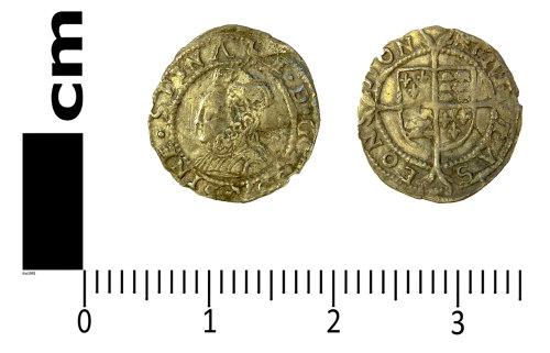 LANCUM-DDE958: Post-medieval coin: Penny of Elizabeth I