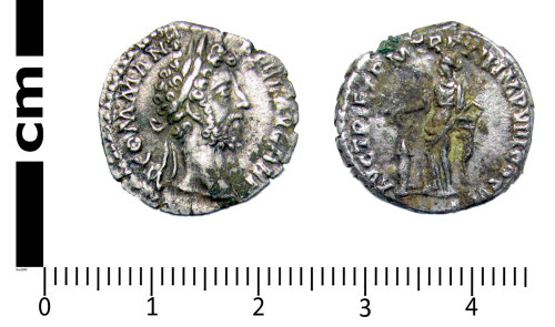 A resized image of Roman coin: Denarius of Commodus