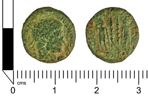 LANCUM-E3DC14: Roman coin: Nummus of the House of Contstantine