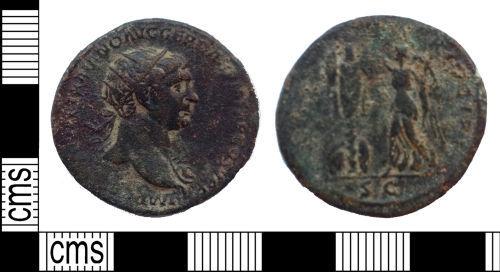 LANCUM-3042A0: Early Roman dupondius of Trajan, AD103-111