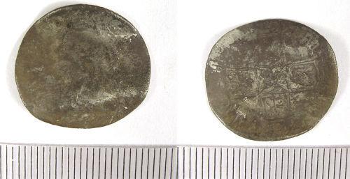 LANCUM-F534F0: Post Medieval Shilling of Anne