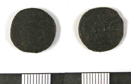 LANCUM-D97DE1: Roman coin (3rd/4th century) (obv., rev.)