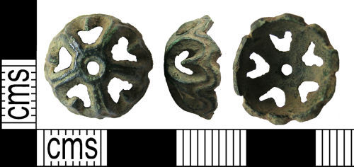 LANCUM-C037C3: Dome-shaped openwork mount, possibly swivel fitting
