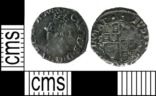 LANCUM-470908: Silver hammered penny of Charles I