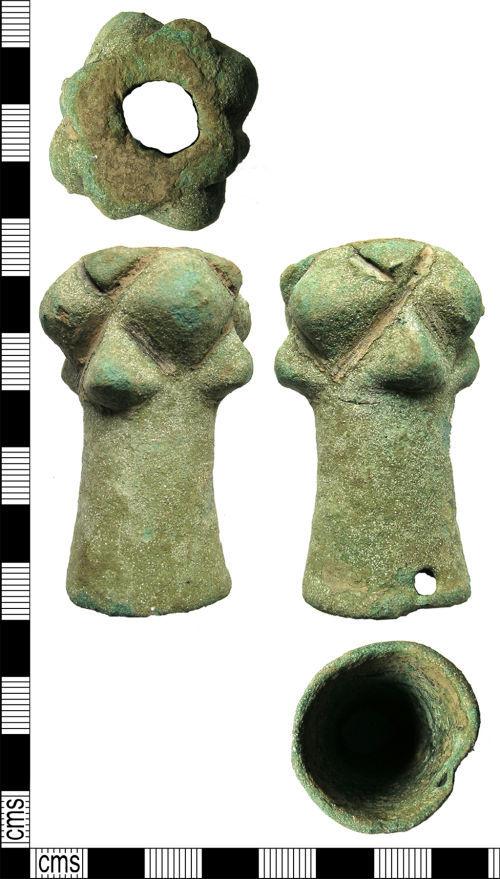 LANCUM-7266A0: Cast cu-alloy mace head