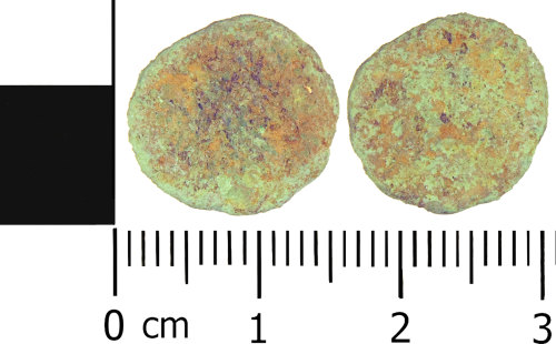 LANCUM-9E6DAD: Roman coin: Very probably a late Roman radiate or radiate copy