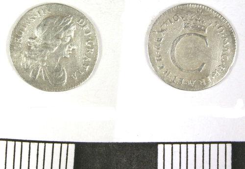 LANCUM-226768: Post-Medieval Penny of Charles II