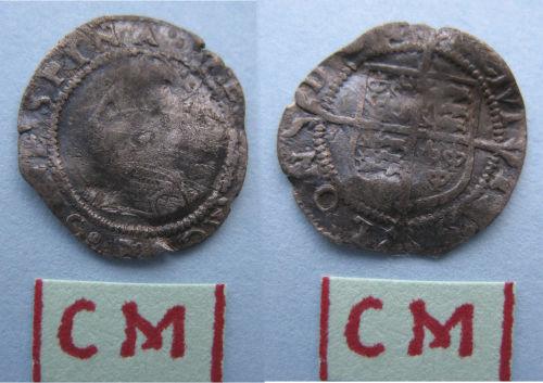 LANCUM-762A06: LANCUM-762A04: Post-Medieval penny of Elizabeth I