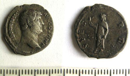 LANCUM-1A6EA5: Roman denarius of Hadrian