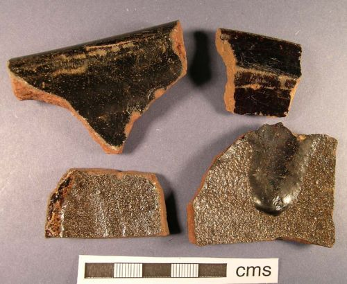 A resized image of Post Medieval Pottery sherds from Preesall, Lancs.