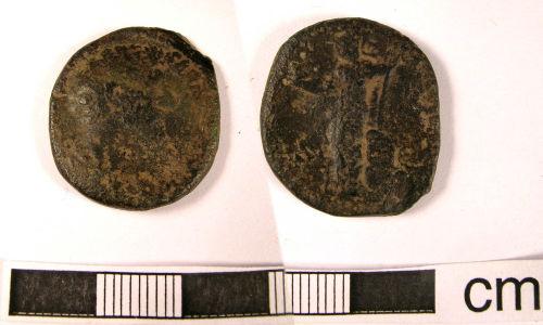 LANCUM-B71F71: Staffs., Tamworth: Dupondius of Marcus Aurelius