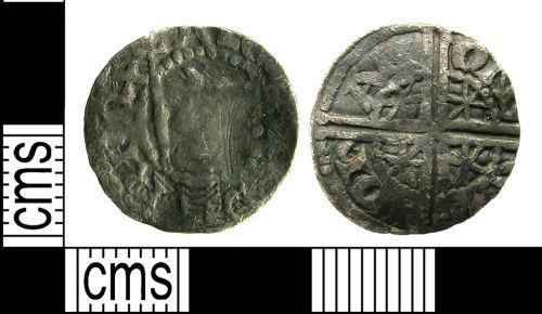 LANCUM-6B8192: LANCUM-6B8192: Scottish medieval silver hammered voided long-cross penny of Alexander III