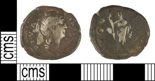LANCUM-73D1C1: LANCUM-73D1C1: Early Roman denarius of Faustina I