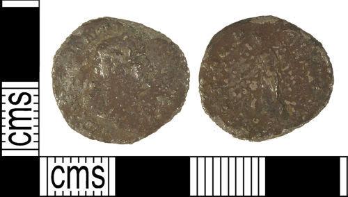 LANCUM-BAF9B1: LANCUM-BAF9B1: Early Roman contemporary copy (plated denarius) of Trajan