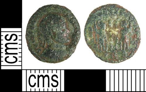 LANCUM-75D096: LANCUM-75D096: Late Roman nummus of the House of Constantine