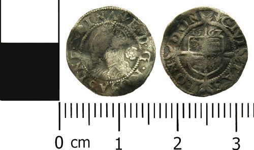 LANCUM-2A3E25: Post-medieval coin: Threepence of Elizabeth I