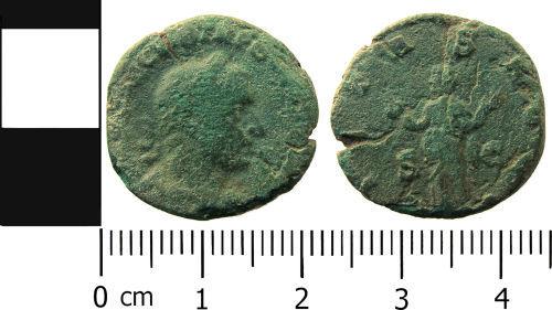 LANCUM-6F7EC3: Roman coin: As of Trebonianus Gallus