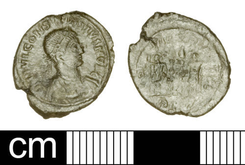 SOM-6AAF6D: Roman Coin: Nummus of the House of Constantine
