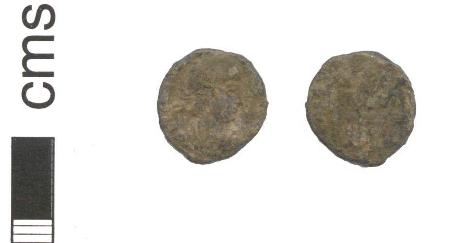 NARC-50B292: A Roman copper alloy nummus, possibly of constans, dates to 335 - 337 A.D.