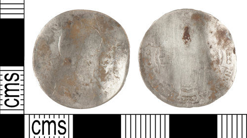 YORYM-CC2F5D: Post medieval coin: sixpence of William III