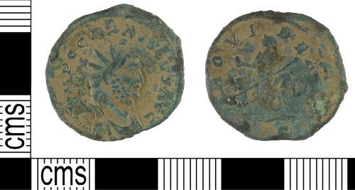 YORYM-8A1AD1: Roman coin: radiate of Carausius