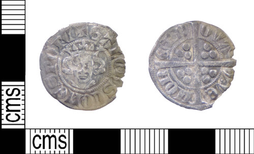 LIN-BA9649: Medieval coin: sterling imitiation of Edwardian type issued by Gaucher of Chatillon