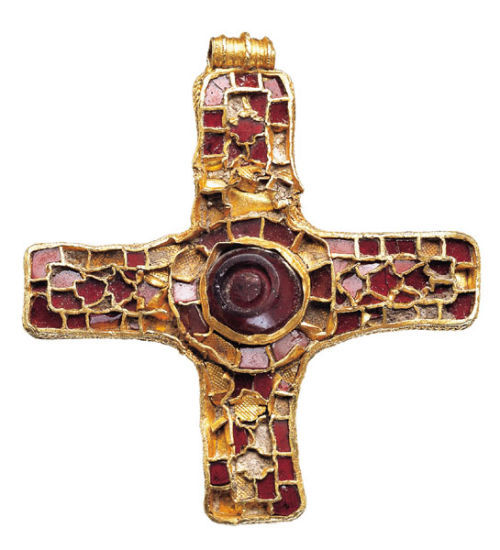 YORYM214: An Anglo-Saxon gold and garnet pectoral cross